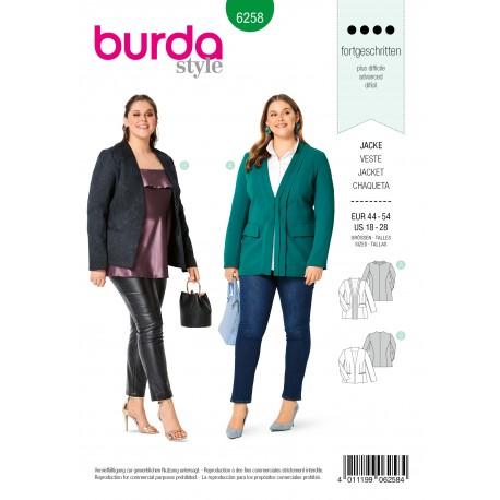 Jacket Sewing Pattern - Burda n°6258