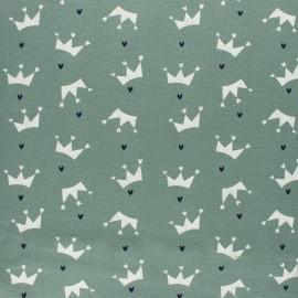 Tissu Flanelle Couronne d'amour - vert sauge x 10cm