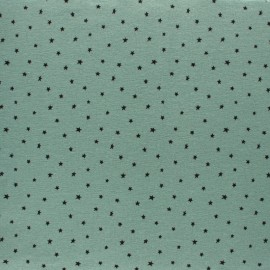 Flannel Fabric - Sage green Cloud of stars x 10cm