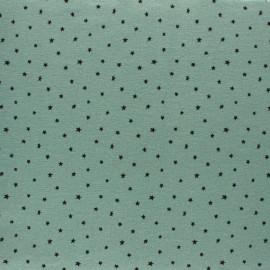 Tissu Flanelle Nuée d'étoiles - vert sauge x 10cm