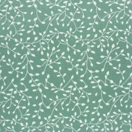 Tissu Flanelle Feuillage - vert sauge x 10cm