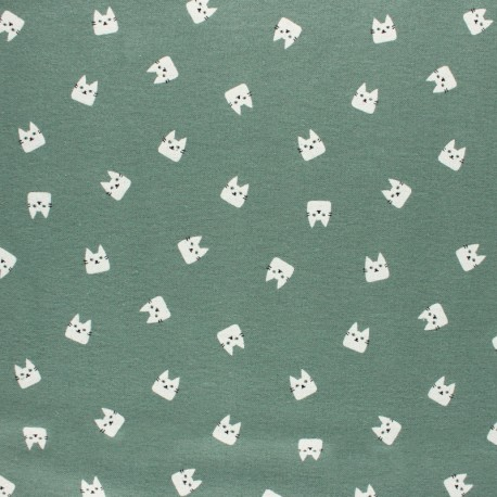 Flannel Fabric - Sauge green Feuillage x 10cm