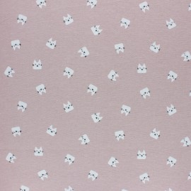 Flannel Fabric - light blue Miaou x 10cm
