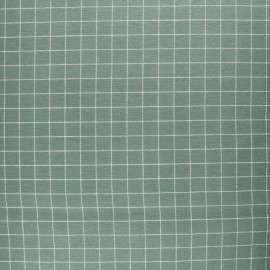 Flannel Fabric - Sauge green Miaou x 10cm