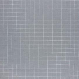 Tissu Flanelle à carreaux - bleu ciel x 10cm