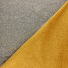 Iridescent Sweatshirt fabric with minkee reverse - pink x 10cm