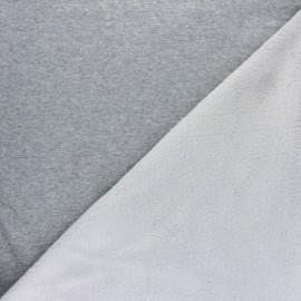 Iridescent Sweatshirt fabric with minkee reverse - gold x 10cm