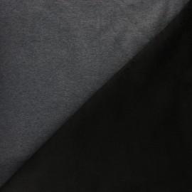 Iridescent Sweatshirt fabric with minkee reverse - silver x 10cm
