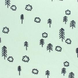 Tissu Bio Eva Mouton éponge jersey Tree - vert amande x 10cm