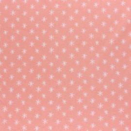 Tissu Bio Eva Mouton éponge jersey Stars - Corail x 10cm