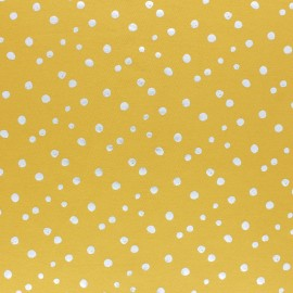 Cotton Jersey fabric - blue/silver dot passion x 10cm