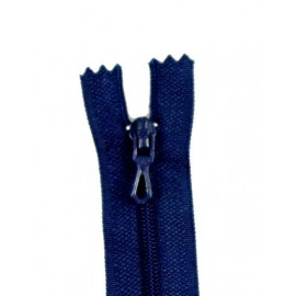 Closed bottom zipper - navy blue