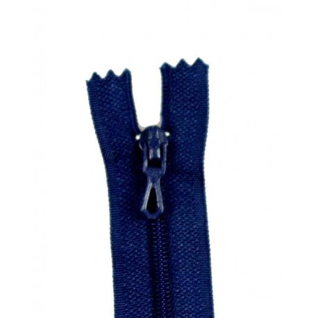 Closed bottom zipper - navy blue