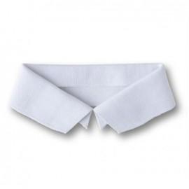 Organic Polo Collar - White
