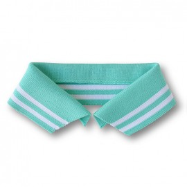 Organic Polo Collar with Double Stripes - Green