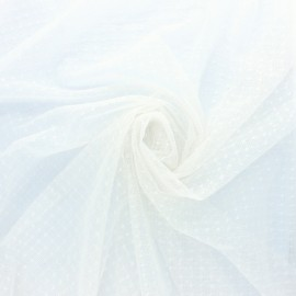 Point d'esprit tulle Fabric - white x 10cm