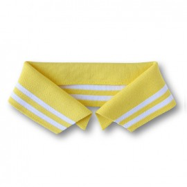 Organic Polo Collar with Double Stripes - Yellow