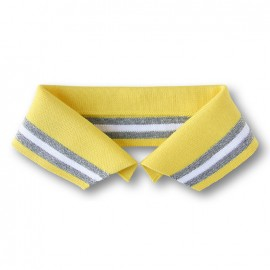 Organic Polo Collar with Stripes - Yellow