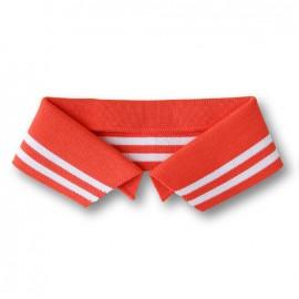 Organic Polo Collar with Double Stripes - Orange