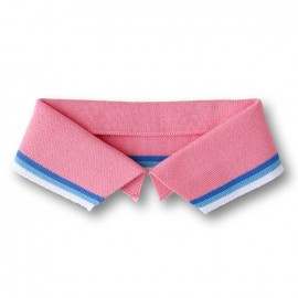 Organic Polo Collar with Stripes - Pink