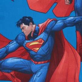 ♥ Coupon 100cm X 140 cm ♥  cotton fabric - Blue Superman
