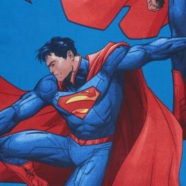 Panneau coton - Superman - bleu x 100 cm