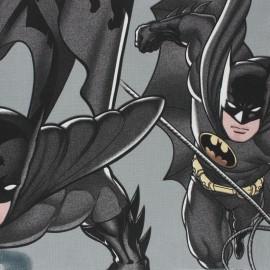 Panneau coton - Batman - gris x 100 cm