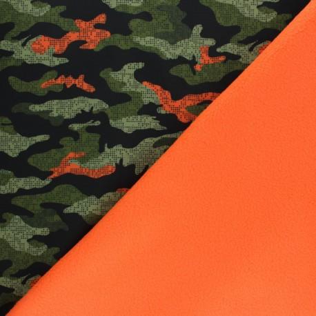 Water-repellent Neon Softshell fabric – orange x 10cm