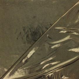 Tissu Lycra lurex - doré/noir x 10cm