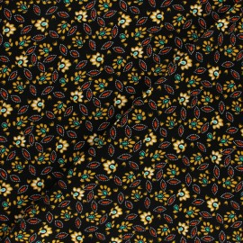 Dotted Viscose Fabric - black x 10cm