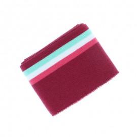 Organic Striped Edging Fabric (140x7cm) - Plum