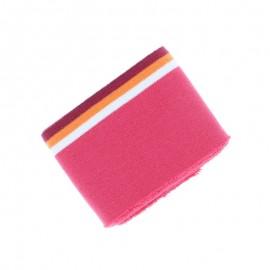 Organic Striped Edging Fabric (140x7cm) - Fuchsia Pink