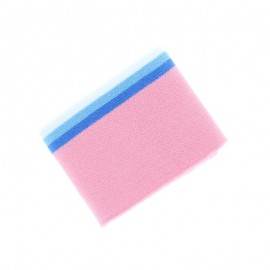 Organic Striped Edging Fabric (140x7cm) - Pink