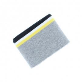Organic Striped Edging Fabric (140x7cm) - Grey