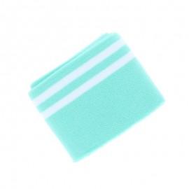 Organic Striped Edging Fabric (140x7cm) - Green