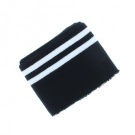 Organic Striped Edging Fabric (140x7cm) - Black