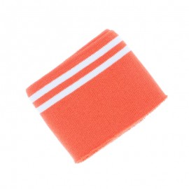 Organic Striped Edging Fabric (140x7cm) - Orange