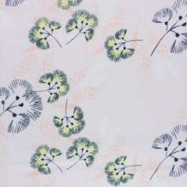 Rico Design double Gauze cotton fabric - white Flower meadow x 10cm
