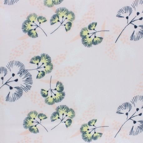 Rico Design double Gauze cotton fabric - white Flower meadow x 10cm