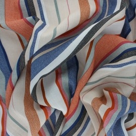 Striped Linen Aspect Viscose fabric - Raw Ludivine x 10cm