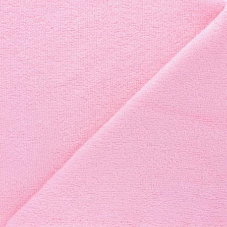 Tissu éponge bébé bambou - Rose clair x10cm