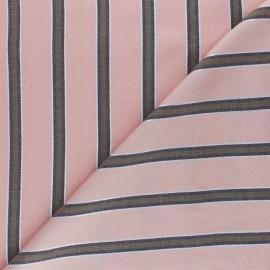 Tissu Viscose rayé Lurex Gwen - rose x 10cm