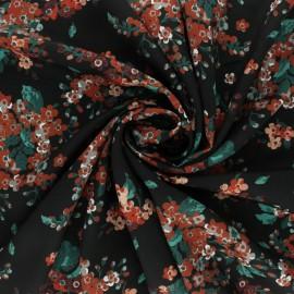 Tissu satin Batur - vert x 50cm
