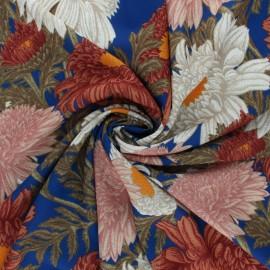 Tissu crêpe élasthanne Nadala - bleu x 10cm