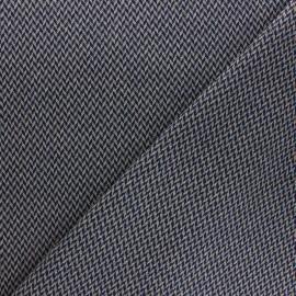 Tissu Maille fine viscose lurex Suzanne - marine x 10cm