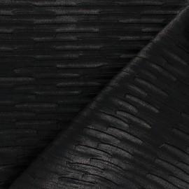 Tissu Simili cuir On the wall - noir x 10cm