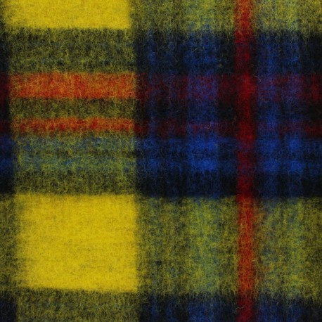 Tissu lainage jersey Scotland - jaune x 10 cm