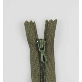 Closed bottom zipper - dark khaki