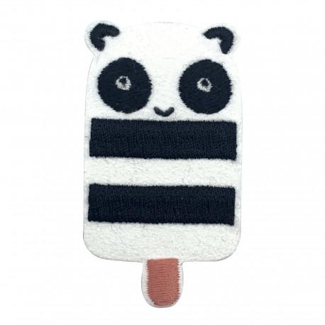 Panda iron-on patch - Esquimanimau