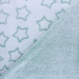 Tissu Doudou double face Pluie d'étoiles - beige x 10cm